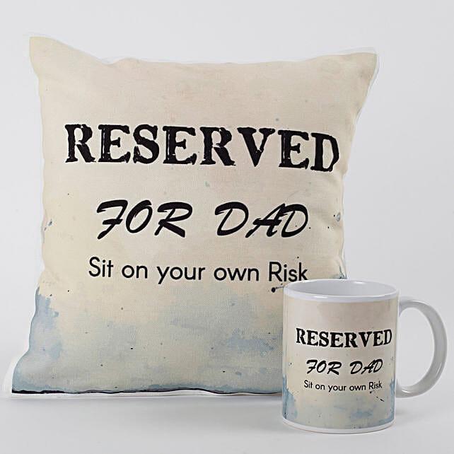 printed coffee mug and cushion