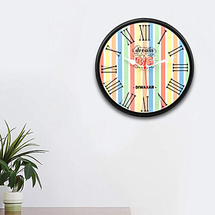 personalised wall clock for him