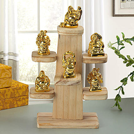 Resin Buddha set:Send Home Decor Gifts