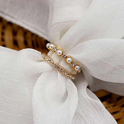 Pearlesque Gold Ring