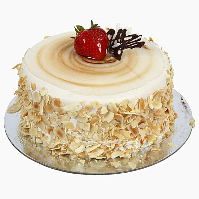 Rich Caramel Almond Flakes Cream Cake:Caramel Cakes