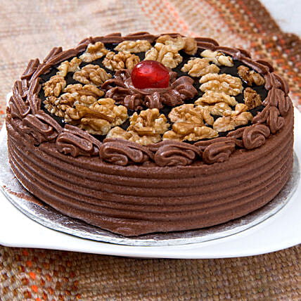 Rich Choco Walnut Cream Cake