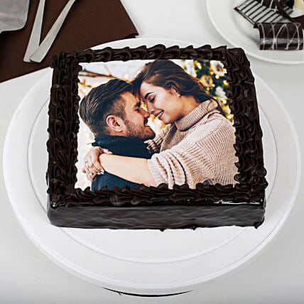 Chocolate Personalised Photo Cake:Send Photo Cakes