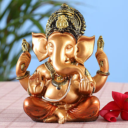 online Rich Copper Shine Ganesha Idol With Dhoti:Ganesh Idols