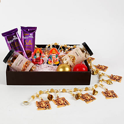 Diwali hamper in wooden tray