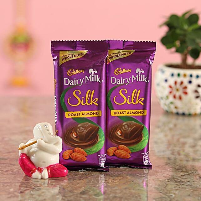 Roast Almond Chocolate Ganesha Idol