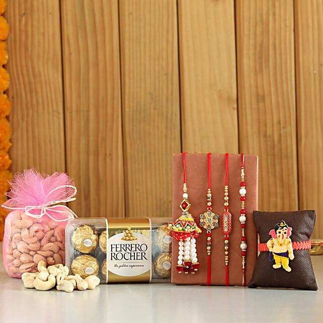 online Rochers & Cashews With Set Of 5 Rakhis