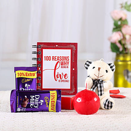 cute 100 reason love book with surprise combo