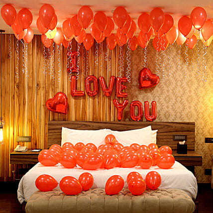 Romantic Red Themed Love You Balloon Decorations:Decoration for Birthday