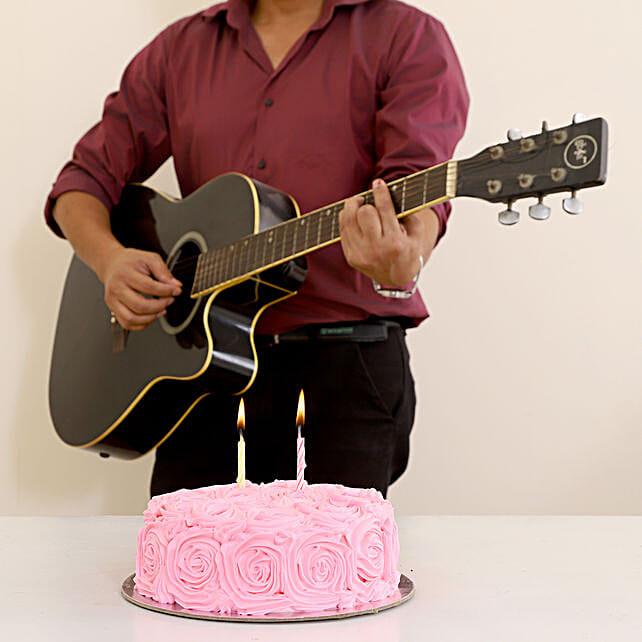 Romantic Tunes & Floral Chocolate Cake Combo