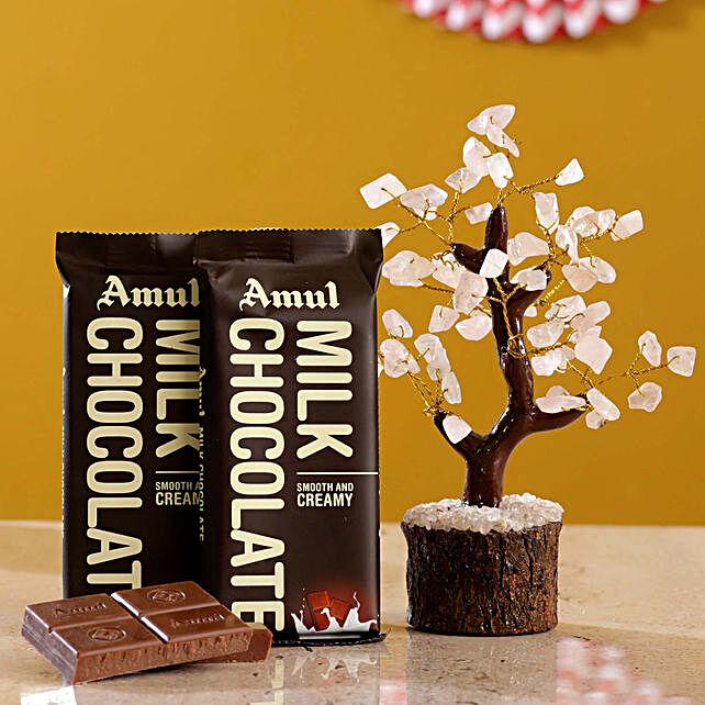 Rose Quart Wish Tree Amul Milk Chocolate