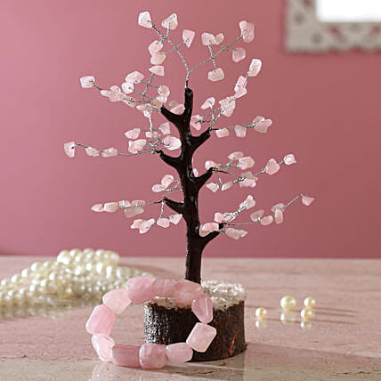 Rose Quartz Wish Tree & Bracelet
