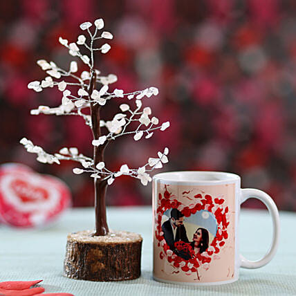 printed mug with wishing tree for girlfriend