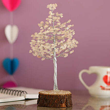 online decorative rose quartz wish tree for thank you:Send Wish Trees