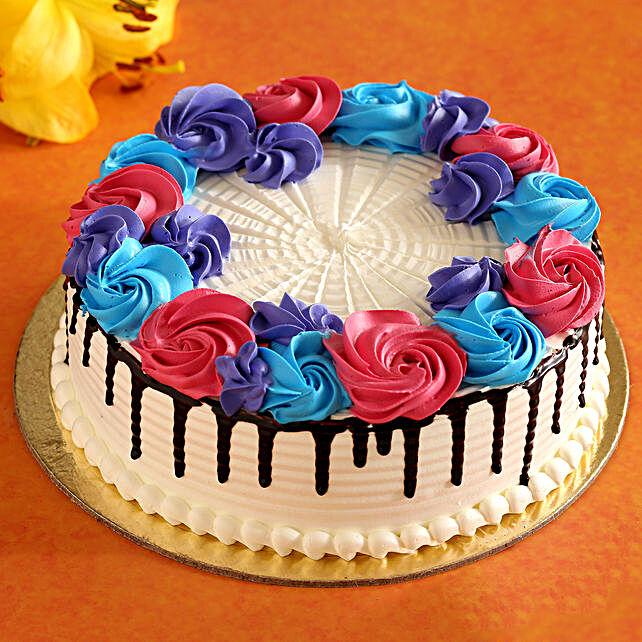 roses theme cake for vday