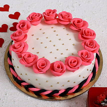 Roses Around Designer Truffle Cake