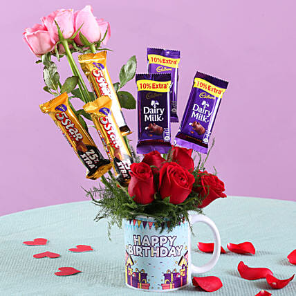 Roses & Chocolates Mug Surprise