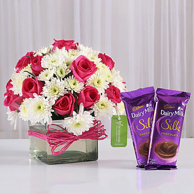 Flower N Cake Combo For Girlfriend