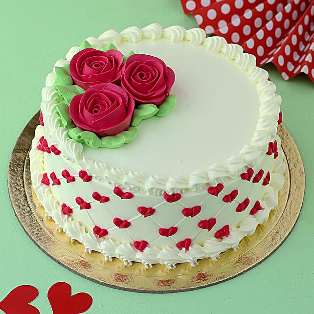 Roses & Hearts Chocolate Cake