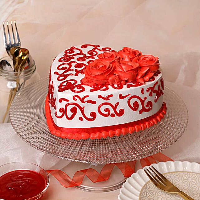 heart shape cake online:Designer cakes for anniversary