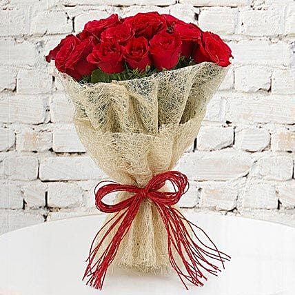 Rosy Romance - Bunch of 30 Long Stem Red Roses.