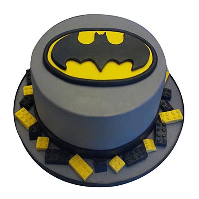 Batman Fondant Cake 1kg:Batman Theme Cakes