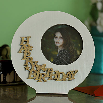 Round Birthday Photo Frame For Her