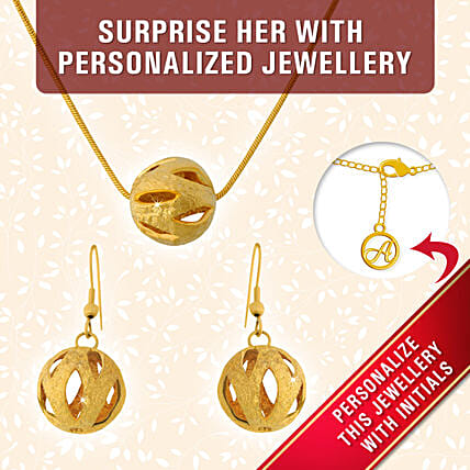 best personalised pendant set online