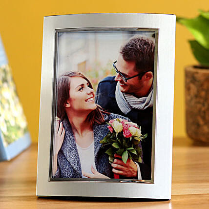 Online Rounded Metallic Personalised Photo Frame