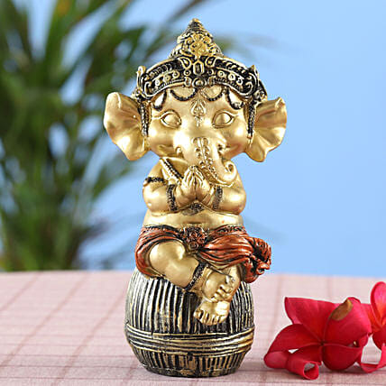 online Royal Golden Bal Ganesha Idol:Ganesh Idols