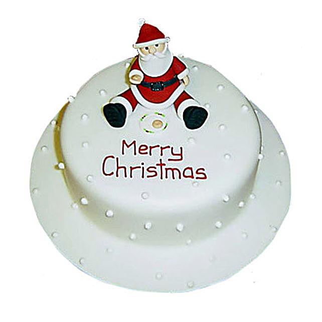 Santa Christmas Cake 2kg Eggless