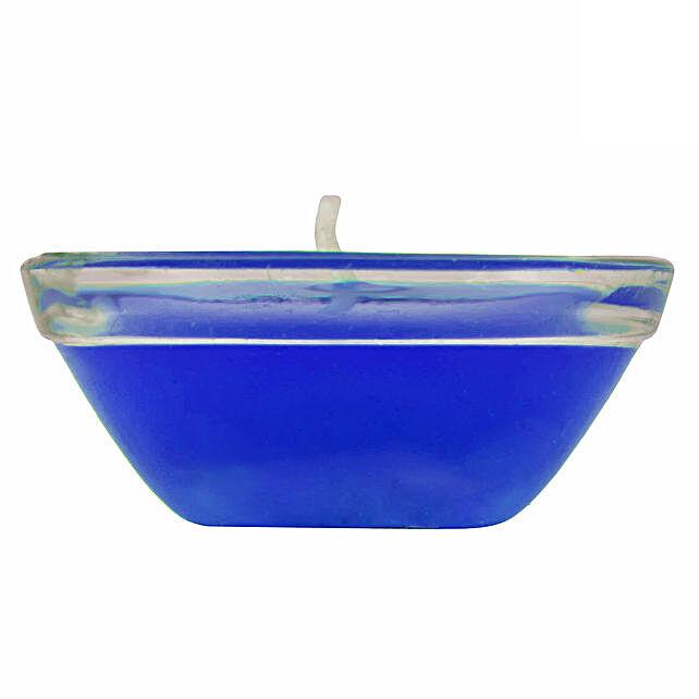 Online  Small Glass Blue Gel Diya:Diyas