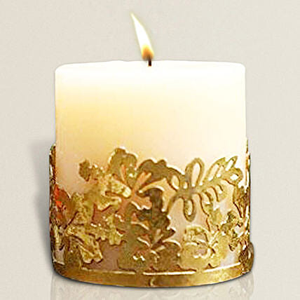 Aroma Candle Pillar with Holder