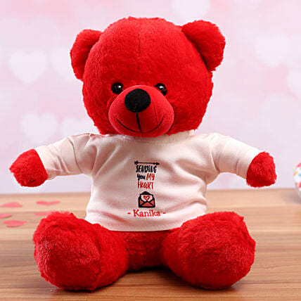 personalised tshirt teddy for vday