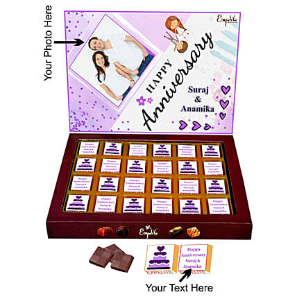 Online Anniversary Personalised Chocolates:Personalised Chocolates for Anniversary