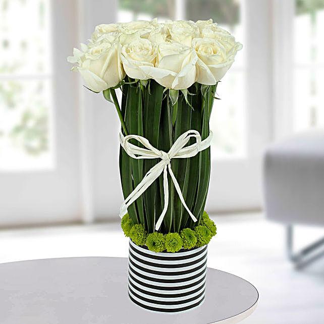 Unique White Roses Bouquet