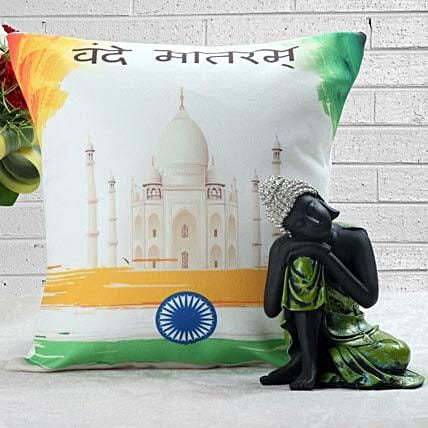 Cushion with buddha