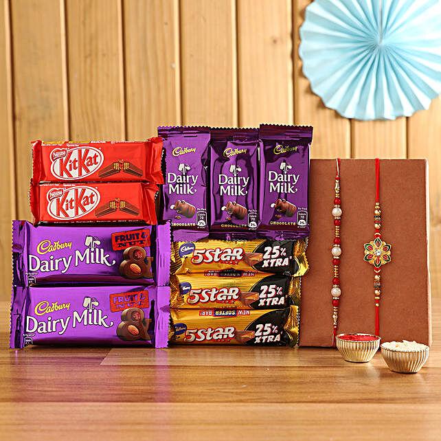 Chocolate Hamper with Rakhis Set