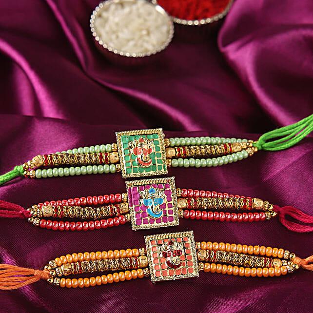 Online Ganesha Rakhi Set