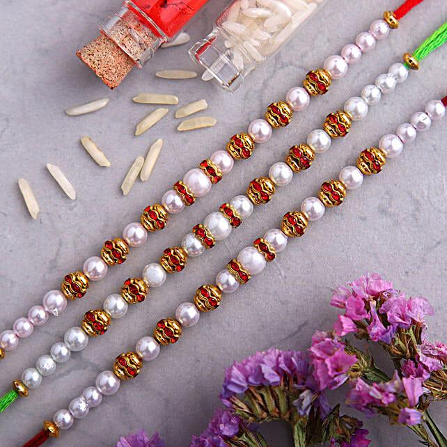 Set of 3 Soothing Pearl Rakhi