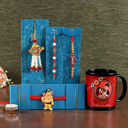 Rakhi with Photo Mug For Brother