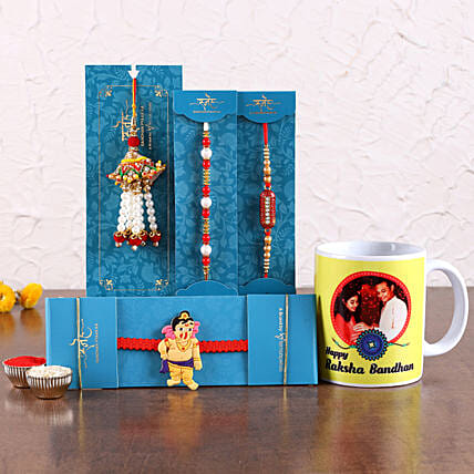 Rakhis Set with Customised Mug Online:Cartoon Rakhi