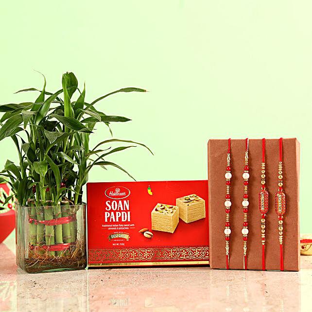 Rakhi Set with Sweets & Plant