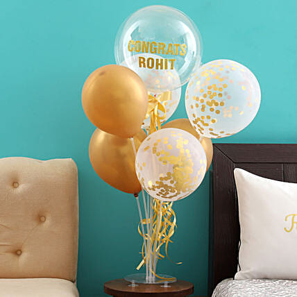 Shining Congratulations Balloon Bouquet for Him