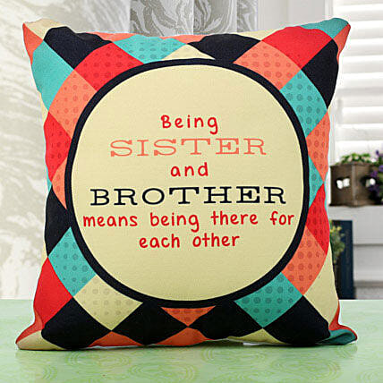 Sibling Love Cushion Rakhi Gifts