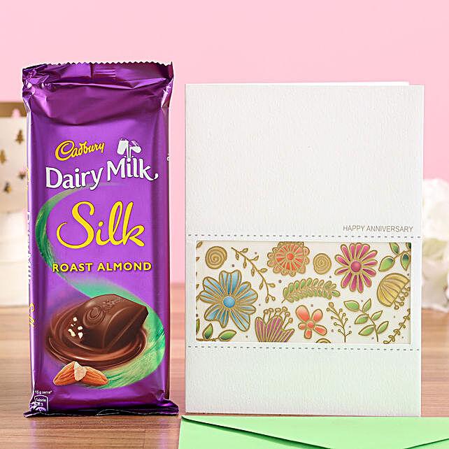 Chocolate with Anniversary Greetings