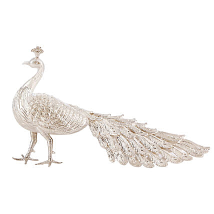 Lucky Silver Peacock For Home