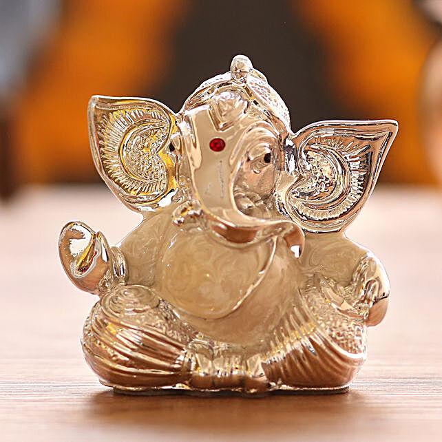 online silver plated ganesha idol