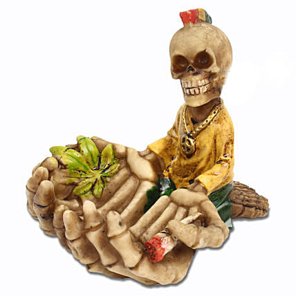 Skull Ashtray  Yellow