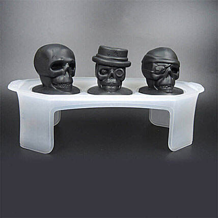 Set of 3 Skull Ice Mould